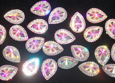 sew on stich on JEWEL Grade A18mm GEM CRYSTAL RHINESTONE trim CLEAR AB Bead
