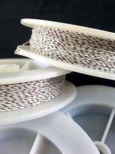 (1) White w/ Walnut Spec Genuine Irish Linen Single Pool Billiard Cue Wrap Spool