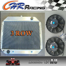 3 ROW Aluminum Radiator for FORD F100 F150 F250 F350 V8 67-81 and two fans
