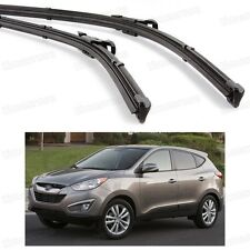 2Pcs Car Front Windshield Wiper Blade Bracketless for Hyundai Tucson 2010-2015