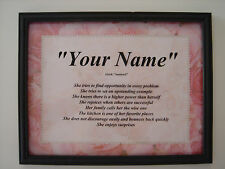 NAME Print - PEARLS & ROSES - Meaning of YOUR First Name *Personalized*