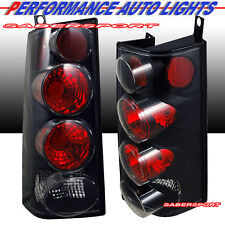 Pair Eagle Eyes Tail Lights (Black) for 1996-2002 Chevy Express Van / GMC Savana