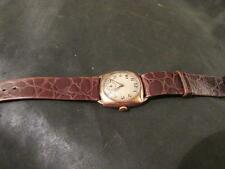 Fabulous Mens Art Deco 9ct Rose Gold Cushion Case Watch,Chester,1929