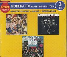 CD - Moderatto Partes De Mi Historia NEW 3 CD's Oferta FAST SHIPPING !