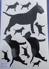 Bull terrier vinyl stickers/ car decals/ window decals