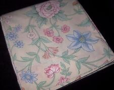 Vintage WAMSUTTA / Ultracale Floral QUEEN Size Flat Bed Sheet Made in USA