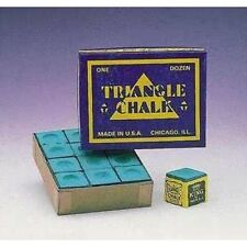 12 Pieces Snooker Triangle Green Professional Snooker Chalk Players In Box.