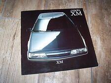 Catalogue /  Brochure CITROEN XM 1990 / 1991  //