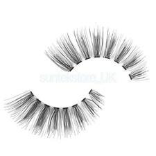 100% Human Hair Handmade Natural Cluster Strip False Eyelashes Fake Lashes