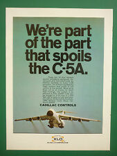 9/70 PUB CADILLAC CONTROLS EX-CELL-O CORPORATION C-5A GALAXY FLIGHT SPOILERS AD