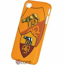 Cover Custodia Per iPhone 4S e  4 Roma Calcio Giallorossi Rigida + Pellicola