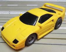 Für Slotcar Racing Modellbahn ---  Ferrari F 40 mit Tyco Motor, + 2 Schleifer