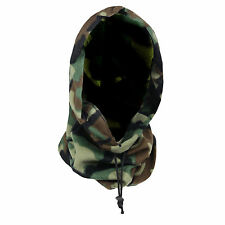MENS WARM FLEECE CAMOUFLAGE LONG HOODY WINTER NECKWARMER SKI BEANIE HAT