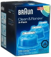 Braun CCR3  Clean & Renew System Cartridges Refills Series 3 5 7 Shaver, 3 Pack