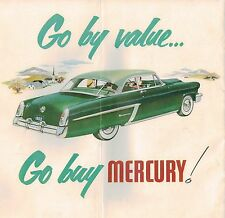1952 MERCURY Brochure: CUSTOM,MONTEREY,STATION WAGON,Convertible,Coupe,