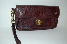 Coach Hampton Ostrich Exotic Large Clutch Handbag Wristlet Brown Leather 12779