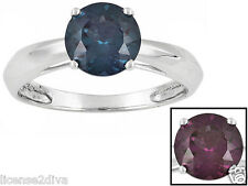 14k WHITE GOLD LAB PERFECT ALEXANDRITE ENGAGEMENT RING SIZE 6! NEW! STURDY!
