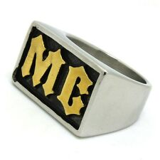 Motorcycle Club Ring Size T-½ Biker Hells Angel Harley Davidson