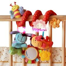 New Creative Baby Kid Spiral/Twisty/Curly Pram Bar/Cot Activity Dangle Toys - 6A