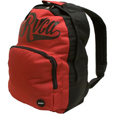 MENS GUYS RVCA BACK BOMBER  BACKPACK BLACK/RUBY RED  SCHOOL BAG NEW $55
