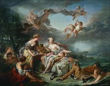 François Boucher The Rape of Europa Canvas16 x 20    #3276