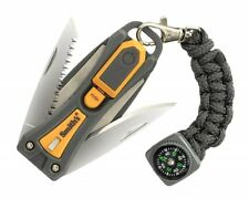 Smith's Sharpener Survival Knife Multi Tool Fire Starter Sharpener Saw 50480