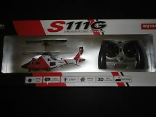 Syma S111G 3CH RC Indoor Mini MH-68A Hitron U.S Coast Guard Helicopter w/Gyro R