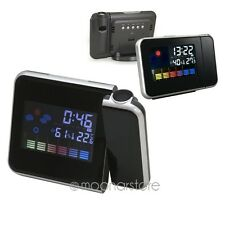 Cool Digital Weather Projection Snooze Alarm Clock Color Display LED Backlight