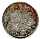 1866 6d Silver SIXPENCE six pence Queen Victoria (a)