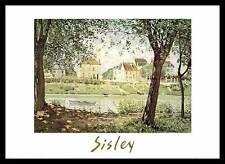 Sisley Village on the Banks of the Seine Poster Kunstdruck im Rahmen 50x70cm