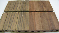 20 Pre-Drilled 7mm Exotic Wood Pen Blanks Shedua & Caribbean Rosewood PD-5