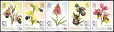 Gibraltar 1995 Singapore '95/Orchids/Flowers/Plants/Nature/StampEx 5v stp s6392m
