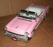 1/18 Buick Roadmaster Riviera Diecast Model Car - 1957 Buick V8 Pink Convertible