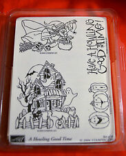 STAMPIN UP A HOWLING GOOD TIME STAMPS SET PUMPKINS WITCH HAUNTED HOUSE GHOST