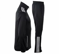 Adidas Suit MENS Gym Fitness Entry Tracksuit Jacket Pants Black/White Size XL