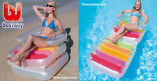 NEW INFLATABLE BESTWAY FOLDING LOUNG SWIMMING POOL CHAIR LILO FLOAT SUN LOUNGER