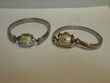 2 VINTAGE WITTNAUER LADIES 14K GOLD WATCHES
