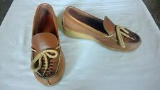 Vintage Cherokee of California Size 7 1/2 Women's Shoes Moccasins Tan Leather
