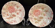 Johnson Brothers Rose Chintz Berry Fruit Bowls Pink Red England TWO Bowls NICE!