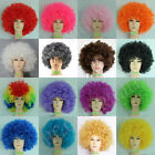 Adult Children 16 colors Costume Ball Party Carnival Clown Wigs Football Fan Wig