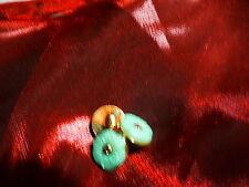 3mignons bottoni per piccoli vestiti stern , corpetti ,corredino, fiore smeraldo