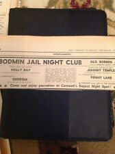 72-7 Ephemera 1971 Advert Bodmin Jail Night Club Penny Lane Holly Day Georgia