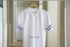 Supreme Blank Football Jersey Top SS15 White Blue Size Medium Baseball Varsity