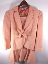 MOSCHINO PEACHY PINK COLORED FLARED SKIRT SUIT - WOOL CREPE - SIZE 8
