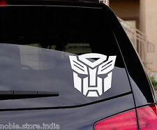 Autobot White Decal Sticker Honda City Amaze Jazz Brio Accord Civic