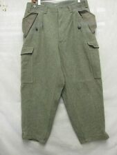 D4085 Swiss Military Green Wool Cool Pants Men 33x27