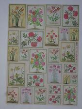 papier découpage technique serviette (thème: fleur encadrée ) 68X48cm