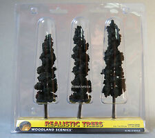 """WOODLAND SCENICS CONIFER GREEN REALISTIC TREES 6 to 7"""" o train land WDS1562 NEW"""