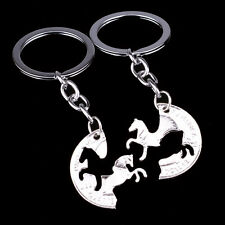 Animal Horse Keyrings Couple Lover Friends BFF Keychain Key Chains Ring Gifts 2P
