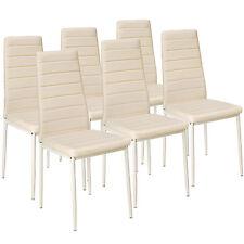 6x Chaise de salle à manger ensemble salon design chaises cuisine neuf beige